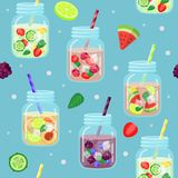 Modèle frais de boissons illustration de vecteur