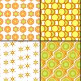 modèle frais vert orange de 4 styles Photos stock