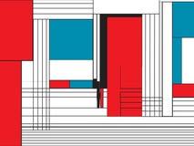 Modèle génial de style de Mondrian illustration libre de droits