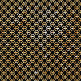 Modèle géométrique élégant moderne avec répéter les lignes onduleuses d'or verticales illustration stock
