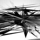Modèle géométrique énervé et approximatif Irregular, formes aléatoires chaotiques illustration de vecteur