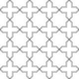 Modèle géométrique abstrait avec croiser les lignes droites minces Texture élégante dans la couleur grise Modèle linéaire sans co Images libres de droits
