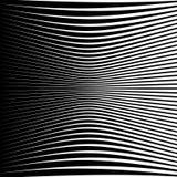 Modèle géométrique abstrait avec la déformation serrer-comprimée e Photos libres de droits