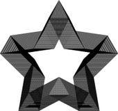 Modèle géométrique abstrait d'étoile image libre de droits