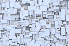 Modèle géométrique abstrait de conception de fond de petite case ou texture irrégulier 3d et aléatoire noir et blanc ou gris de l Photos libres de droits