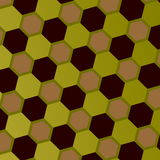 Modèle géométrique abstrait de nid d'abeilles Art Style Mosaic Background Gray Green Brown Hexagons Contexte géométrique fleuri c Images stock