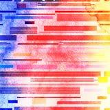 Modèle géométrique abstrait des rayures Photos libres de droits