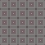 Modèle géométrique abstrait noir et blanc Illusion optique Image stock