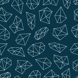 Modèle géométrique avec des cristaux dans le style de polygone Image stock