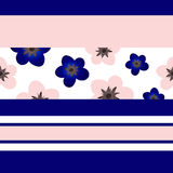 Modèle géométrique avec des fleurs Photos stock