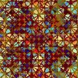 Modèle géométrique avec l'effet grunge Photographie stock