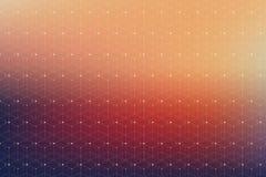 Modèle géométrique avec la ligne et les points reliés Image stock