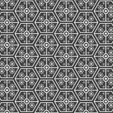 Modèle géométrique avec la neige Photographie stock libre de droits