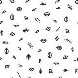 Modèle géométrique avec noir et blanc Faites une feuille et ses parties Photographie stock