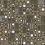 Modèle géométrique avec noir et blanc Formez une triangle, une ligne, une ligne onduleuse, une courbe, une croix, un cercle Style Images stock