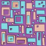 Modèle géométrique coloré moderne dans le style carré et rectangulaire illustration stock