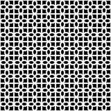 Modèle géométrique décoratif sans couture abstrait de noir foncé et de blanc Images libres de droits