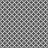 Modèle géométrique décoratif sans couture abstrait de noir foncé et de blanc Image stock