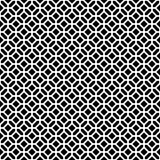 Modèle géométrique décoratif sans couture abstrait de noir foncé et de blanc Images stock