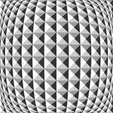 Modèle géométrique déformé par monochrome de conception illustration libre de droits