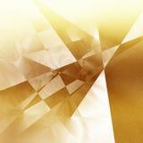 Modèle géométrique d'or Photographie stock