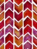 Modèle géométrique d'aquarelle sans couture de vecteur Photos libres de droits