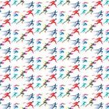Modèle géométrique d'arc-en-ciel de sport de coureur Photos libres de droits
