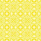 Modèle géométrique d'art déco de vecteur en jaune lumineux Images stock