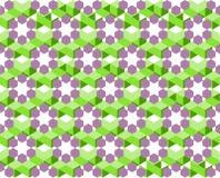 Modèle géométrique de couleur ultra-violette et verte d'isolement sur le fond blanc - dirigez l'illustration, EPS10 Photographie stock libre de droits