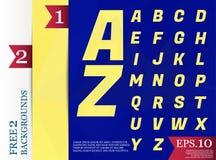 Modèle géométrique de fond polygonal d'alphabet de Crystal Font de Image libre de droits