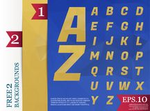 Modèle géométrique de fond polygonal d'alphabet de Crystal Font de Photos stock