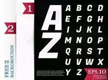 Modèle géométrique de fond polygonal d'alphabet de Crystal Font de Photographie stock