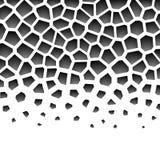 Modèle géométrique de gamme de gris abstraite Photo libre de droits