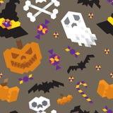 Modèle géométrique de Halloween Photographie stock