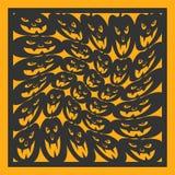 Modèle géométrique de Halloween Carte pour la coupe de laser Un élément de conception décorative Image stock