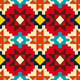 Modèle géométrique de natif américain Images stock