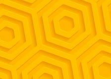 Modèle géométrique de papier jaune, calibre abstrait de fond pour le site Web, bannière, carte de visite professionnelle de visit illustration de vecteur