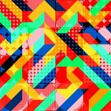 Modèle 1980 géométrique de style d'art de bruit de mode d'amusement illustration de vecteur