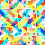 Modèle 1980 géométrique de style d'art de bruit de mode d'amusement illustration stock
