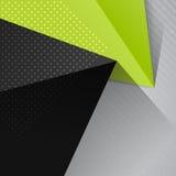 Modèle géométrique de triangle abstraite avec des formes lumineuses de triangle Photo libre de droits