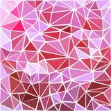 Modèle géométrique de triangle de vecteur sans couture Fond rose Photos stock
