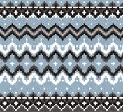 Modèle géométrique de tricots de tartan, fond de Noël d'hiver, carte Plan pour le point de croix et le crochet Photo libre de droits