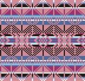 Modèle géométrique de tricots de tartan, fond de Noël d'hiver, carte Plan pour le point de croix et le crochet Photographie stock libre de droits