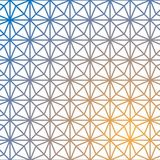 Modèle géométrique de vecteur de grille Cube géométrique, effet d'étoile illustration stock
