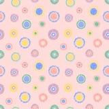 Modèle géométrique de vecteur sans couture avec le fond sans fin en pastel de cercles avec les chiffres géométriques texturisés t Image stock