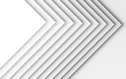 Modèle géométrique des coins de papier 3 d Images stock