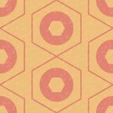 Modèle géométrique des hexagones et des cercles Photographie stock libre de droits