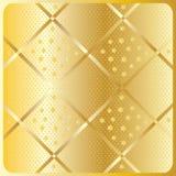 Modèle géométrique diagonal d'or Images stock