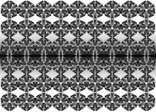 modèle géométrique en métal 3d - illustration, papier peint, milieux, Images libres de droits