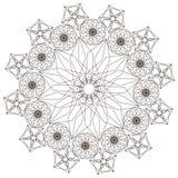 Modèle géométrique en noir et blanc Page pour livre de coloriage Photo libre de droits